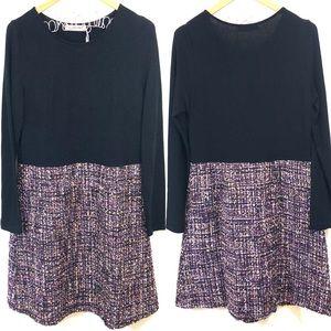 Traffic People ASOS 2-in-1 Dress w Tweed Skirt